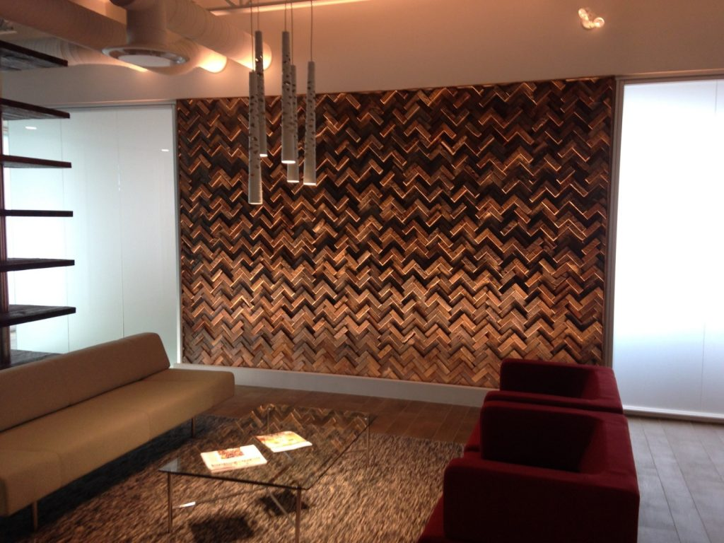 Barn Wood Wall Tiles Feature Wall in Langley