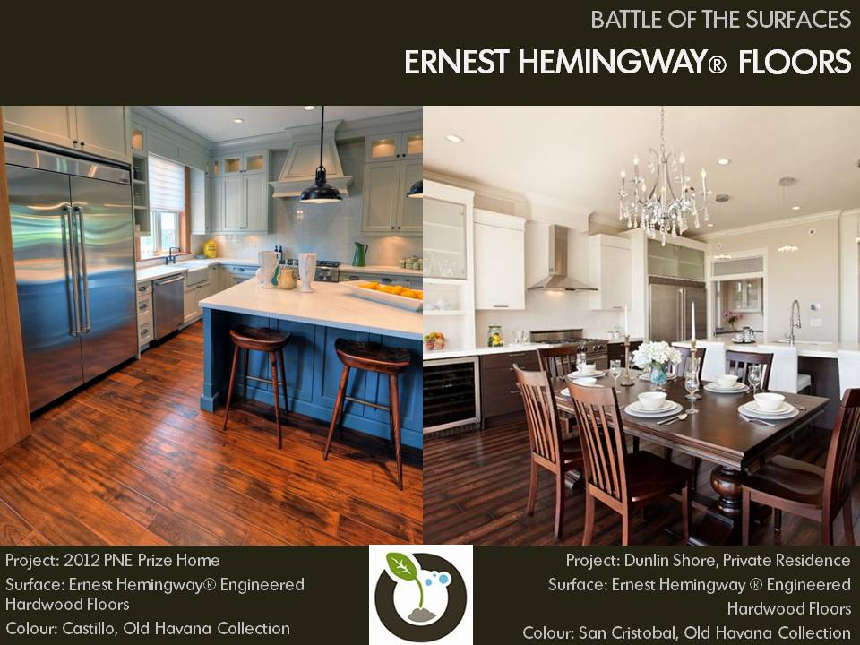 Battle of the Surfaces, Ernest Hemingway engineered hardwood floors