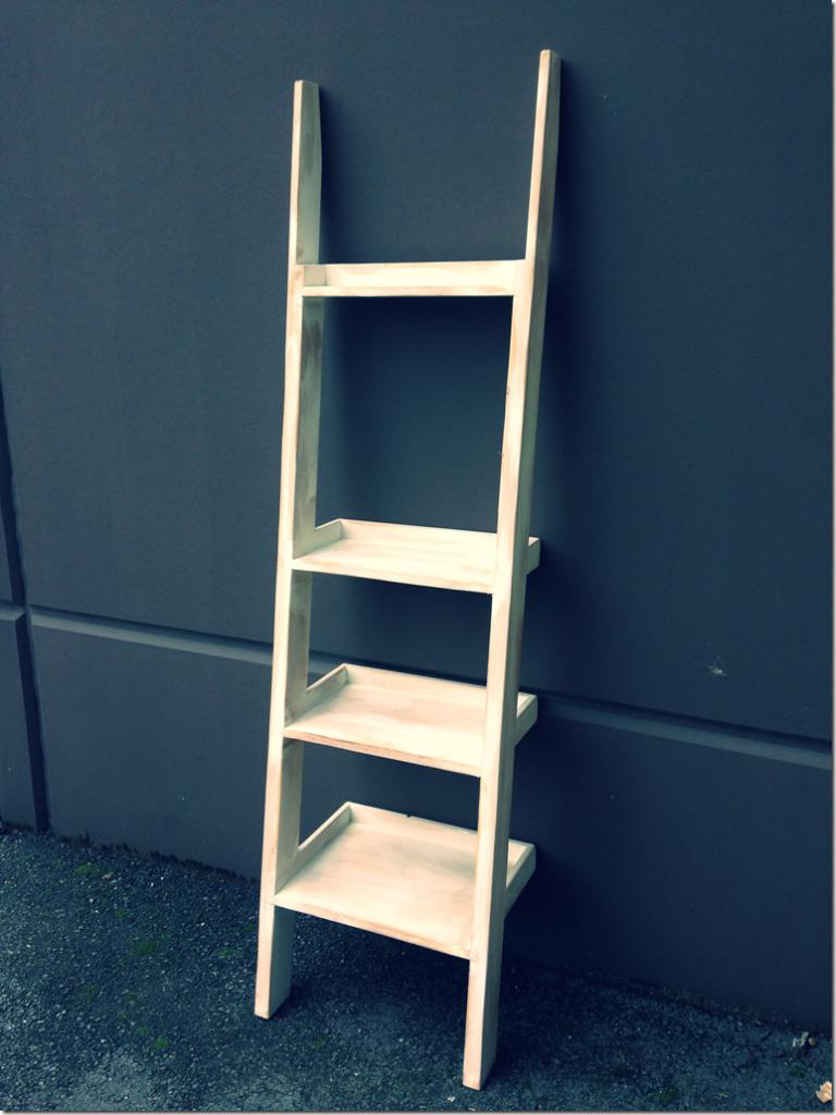 wood ladder shelf