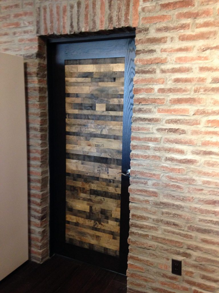 Bourbon barrel wood eco floor store flooring wall for Eco floor