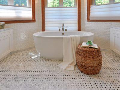 2012 PNE prize Home capiz shell bathroom wall tile, sun peaks resort