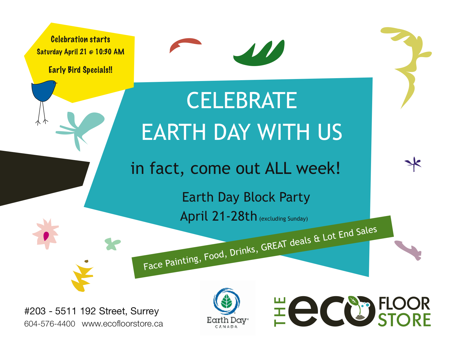 Earth Day Sale at The Eco Floor Store