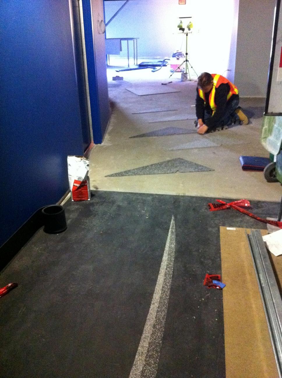 FlyOver Canada - Floor Installation