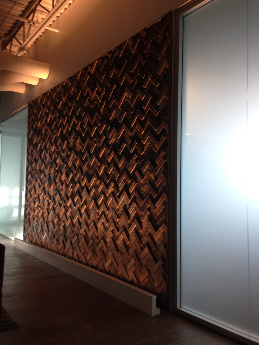 Project profile kpmg langley wall feature eco floor store for Feature wall tile ideas