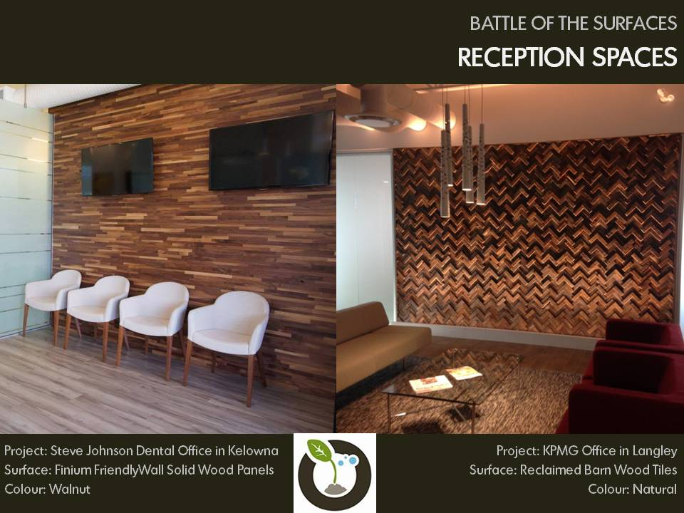 Battle of the Surfaces: Reception Spaces