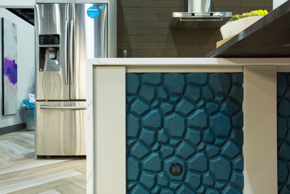 Beehive Cork Wall Surface in Turquoise