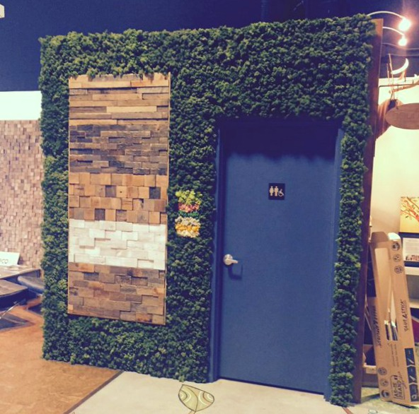 Eco Flooring & Wall Surfaces | Hardwod, Vinyl Panels, Flooring & Wall Surfaces | Eco Floor Store Moss Wall at our Surrey Showroom