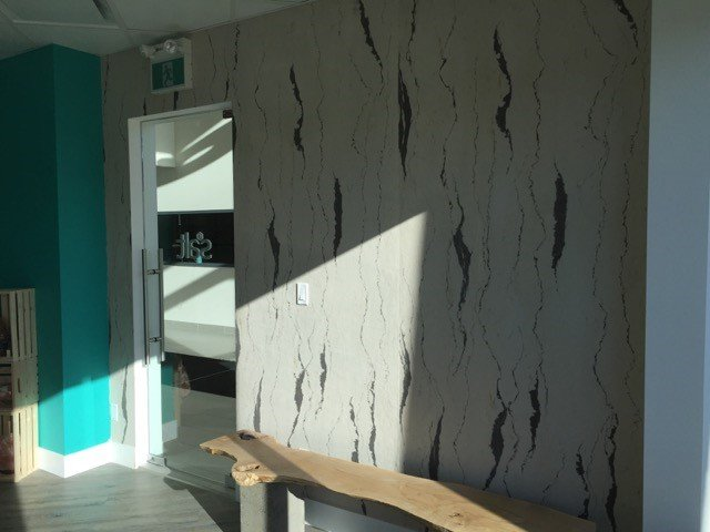 Sandstone Wallpaper Feature Wall in Surrey, BC
