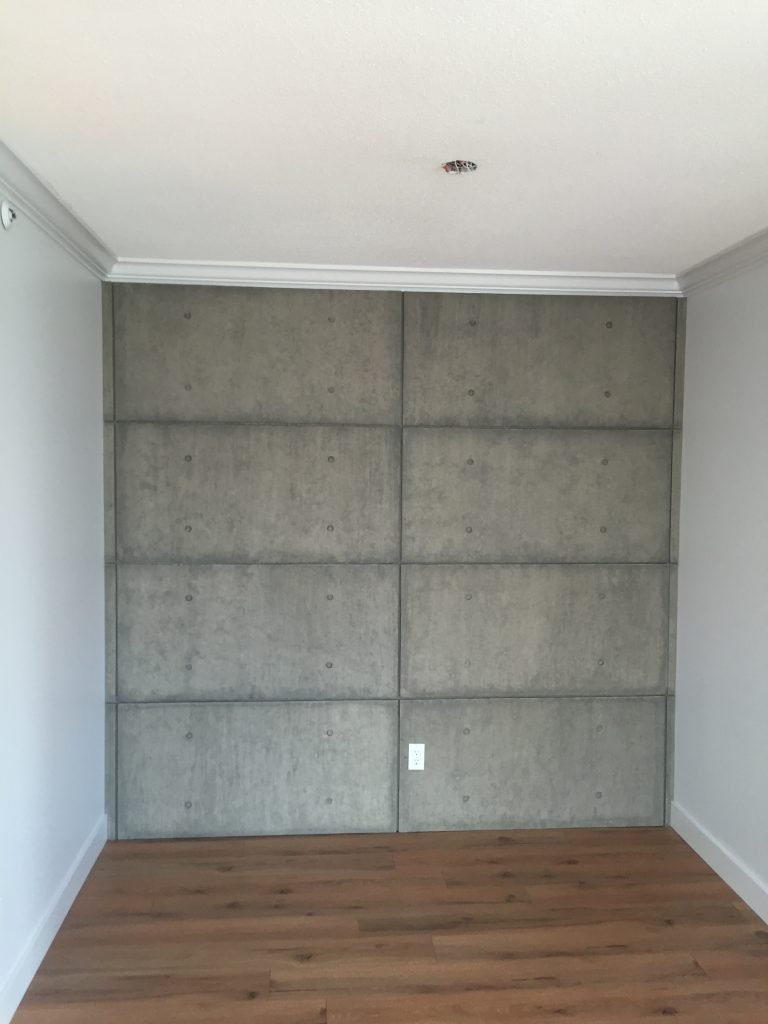 urbanCONCRETE feature wall in Vancouver