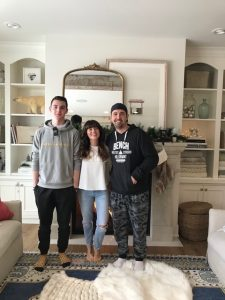 The Eco Floor Store team in Jillian Harris's home in Kelowna