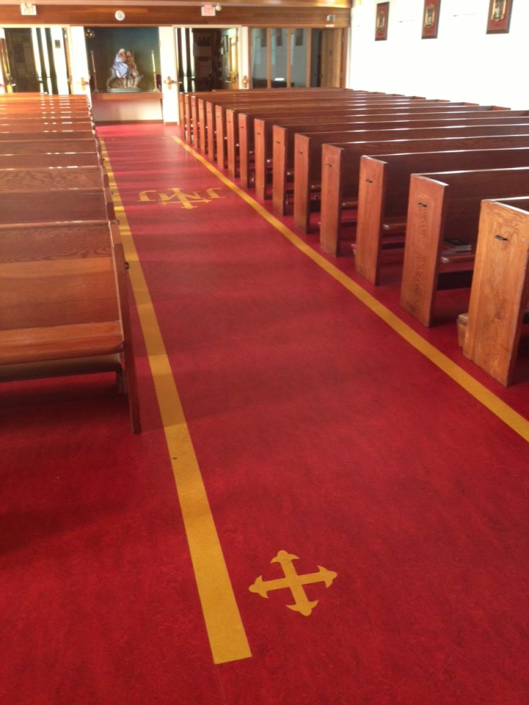 Holy family parish marmoleum eco floor store for Eco floor